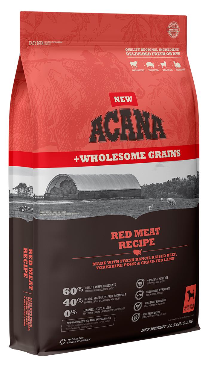Acana Wholesome Grains Red Meat Recipe Dry Dog Food, 22.5-lb