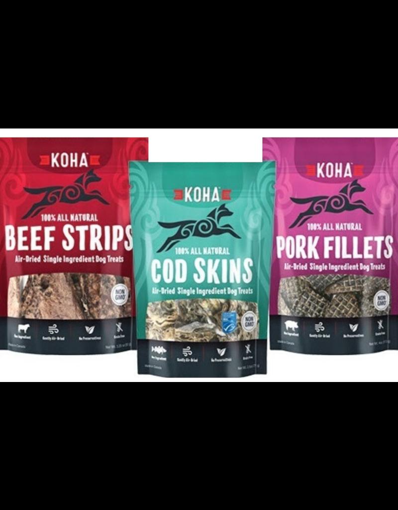 Koha Cod Skins Air-Dried Dog Treats, 2.5-oz