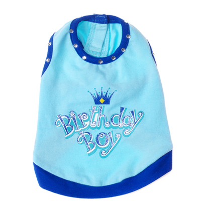 Pooch Outfitters Tank Top, Birthday Boy, XX-Small, XX-Small