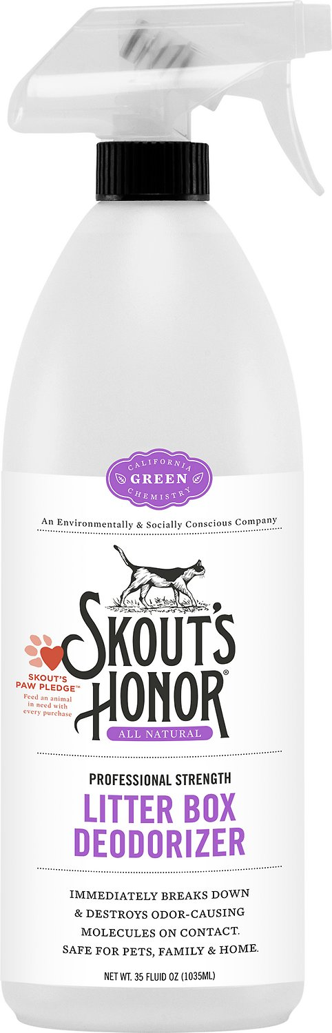 Skout's Honor Professional Strength Litter Box Deodorizer, 35-oz bottle