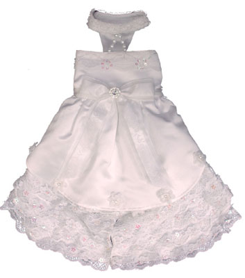 Pooch Outfitters Wedding Dress, Venus, XX-Small