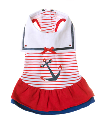 Pooch Outfitters Day Dress, Sailor, X-Small