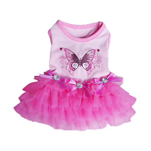 Pooch Outfitters Party Dress, Butterfly, X-Small