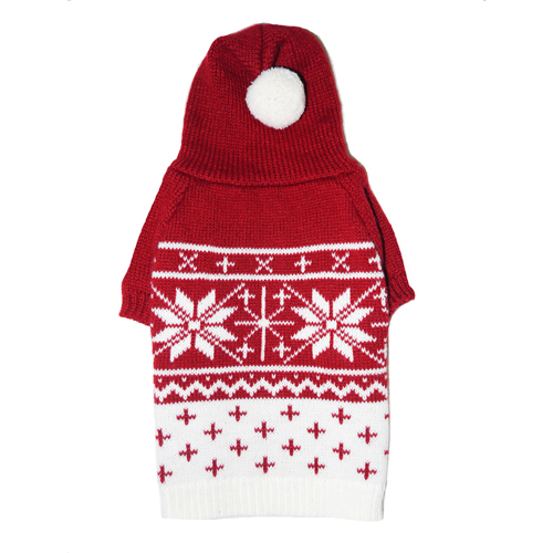 Pooch Outfitters Sweater, Reese Red, Medium