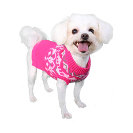 Pooch Outfitters Sweater, Mason Pink, X-Small