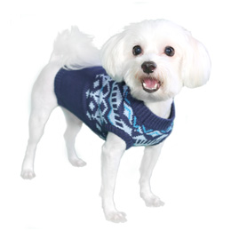 Pooch Outfitters Sweater, Mason Blue, Medium