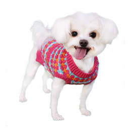 Pooch Outfitters Sweater, Zoe Pink, X-Large