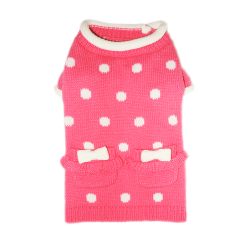 Pooch Outfitters Sweater, Lala Pink, X-Large