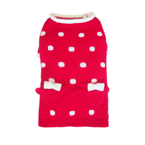 Pooch Outfitters Sweater, Lala Red, X-Small