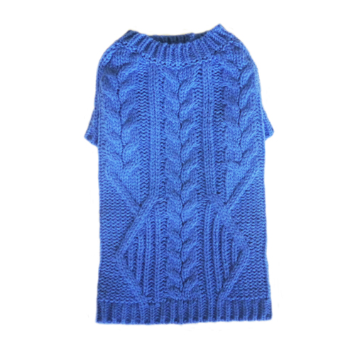 Pooch Outfitters Sweater, George Blue, X-Small