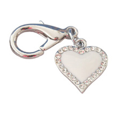 Pooch Outfitters Collar Charm, Enchanted Heart