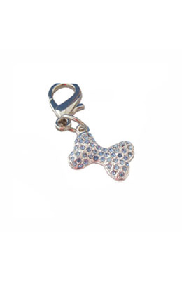 Pooch Outfitters Collar Charm, Pave Bone