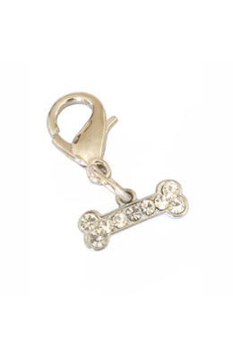 Pooch Outfitters Collar Charm, Tiny Bone
