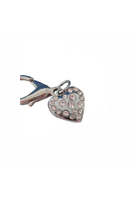 Pooch Outfitters Collar Charm, Studded Heart
