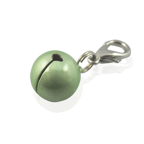 Pooch Outfitters Collar Charm, Bell Green