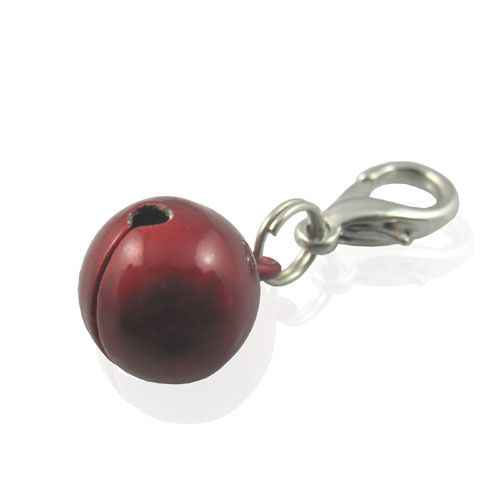 Pooch Outfitters Collar Charm, Bell Red