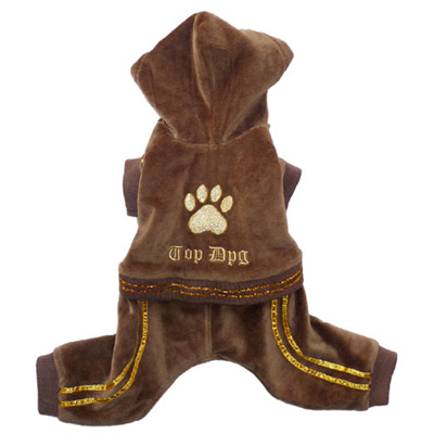 Pooch Outfitters Jumper, Top Dog Brown, X-Small