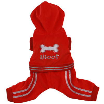 Pooch Outfitters Jumper, Woof Red, XX-Small
