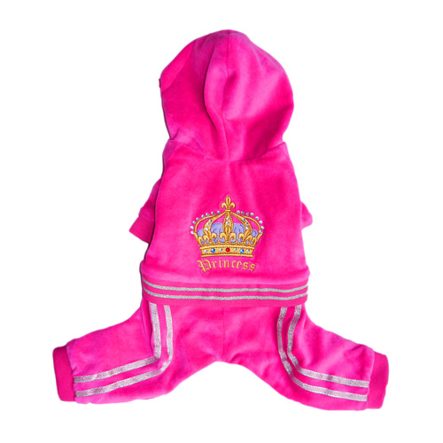 Pooch Outfitters Jumper, Princess Pink with Gold Crown, X-Large