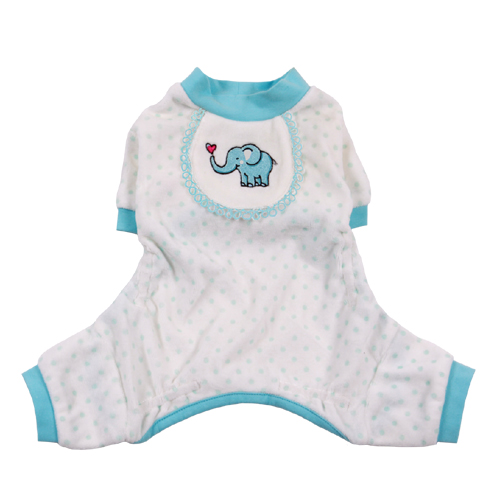 Pooch Outfitters Pajama, Elephant Blue, X-Small