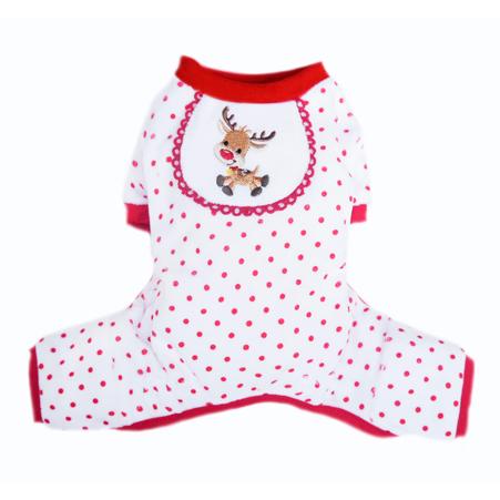 Pooch Outfitters Pajama, Reindeer, Medium