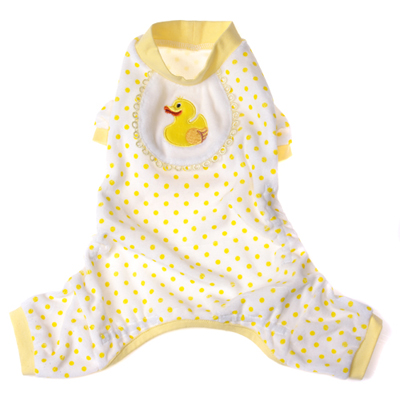Pooch Outfitters Pajama, Ducky, Large