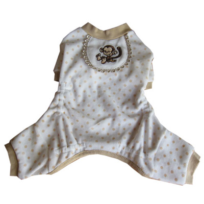 Pooch Outfitters Pajama, Monkey, XX-Small