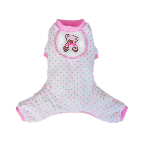 Pooch Outfitters Pajama, Teddy Pink, Medium