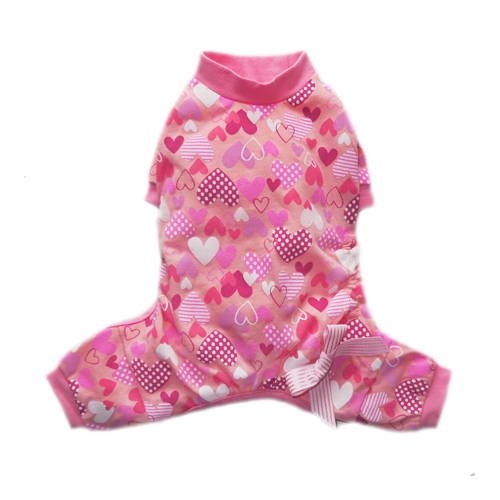 Pooch Outfitters Pajama, Heart, Small