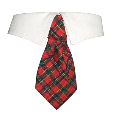 Pooch Outfitters Shirt Collar with Detachable Necktie, Xmas, 3X-Large