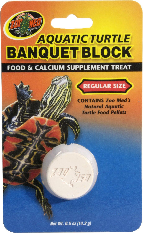 Zoo Med Aquatic Turtle Banquet Block Supplement Treat, Regular