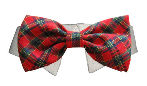 Pooch Outfitters Shirt Collar with Detachable Bow Tie, Xmas, 3X-Large