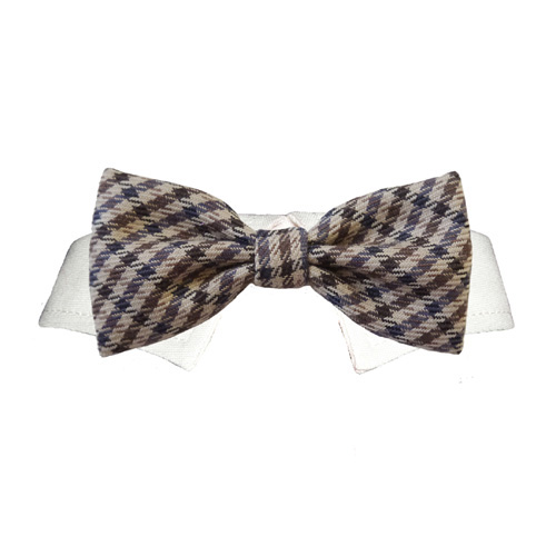 Pooch Outfitters Shirt Collar with Detachable Bow Tie, Ethan, XX-Small/X-Small