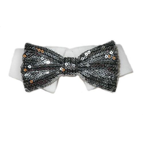 Pooch Outfitters Shirt Collar with Detachable Bow Tie, Sparky, Large/X-Large