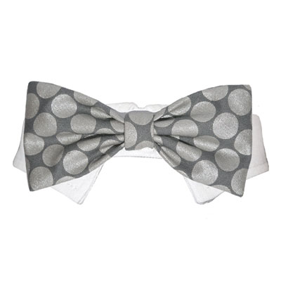 Pooch Outfitters Shirt Collar with Detachable Bow Tie, Bentley, Small/Medium