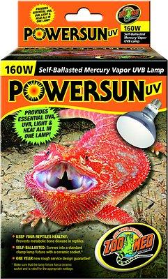 Zoo Med PowerSun UV Mercury Vapor Reptile Lamp, 160-Watt