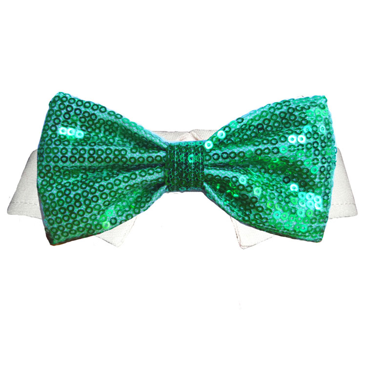 Pooch Outfitters Shirt Collar with Detachable Bow Tie, Dublin, XX-Small/X-Small