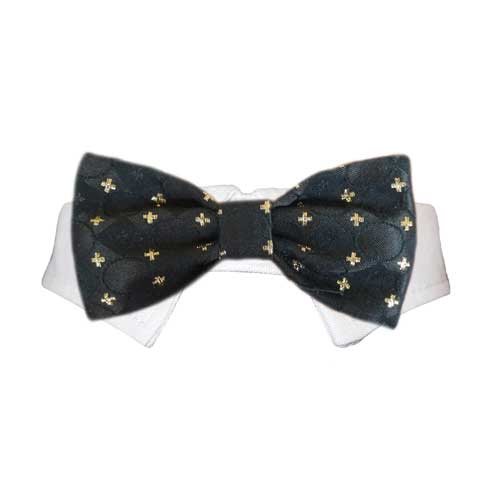 Pooch Outfitters Shirt Collar with Detachable Bow Tie, Cameron, Small/Medium