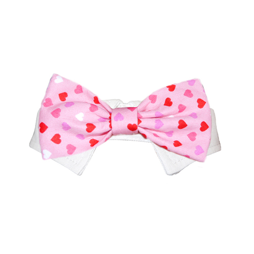 Pooch Outfitters Shirt Collar with Detachable Bow Tie, Hart, 3X-Large