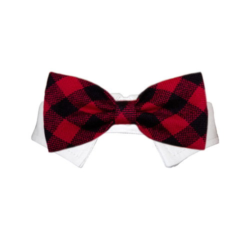 Pooch Outfitters Shirt Collar with Detachable Bow Tie, Clark, 3X-Large