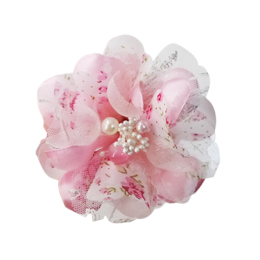 Pooch Outfitters Collar Flower, Gardenia Pink