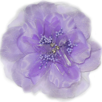 Pooch Outfitters Collar Flower, Victoria Purple