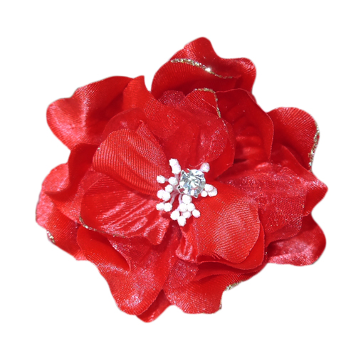 Pooch Outfitters Collar Flower, Jasmine Red
