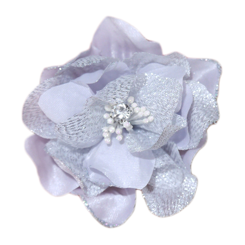 Pooch Outfitters Collar Flower, Jasmine Silver