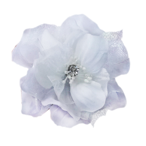 Pooch Outfitters Collar Flower, Jasmine White