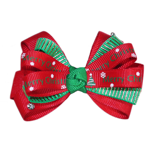 Pooch Outfitters Collar Slider Ribbon, Xmas