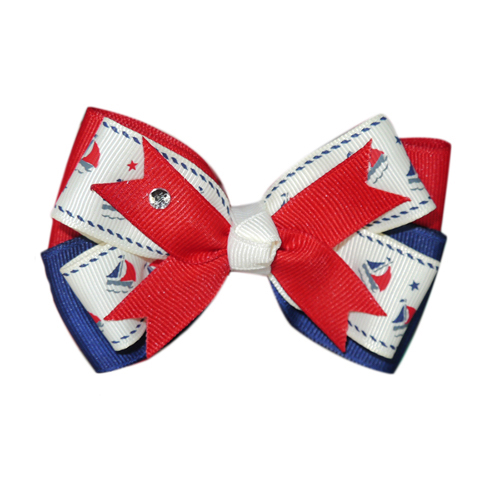Pooch Outfitters Collar Slider Ribbon, Sailor