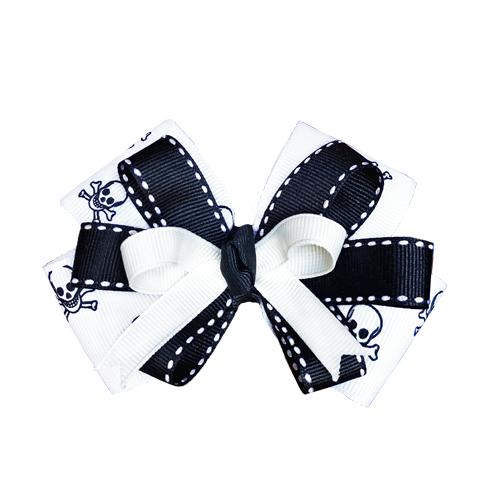 Pooch Outfitters Collar Slider Ribbon, Crossbones