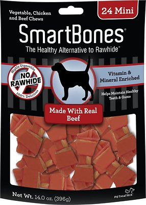 SmartBones Mini Beef Chew Bones Dog Treats