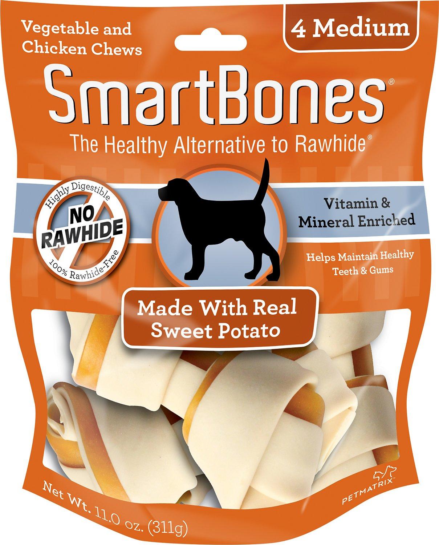SmartBones Medium Sweet Potato Chews Dog Treats, 4 pack